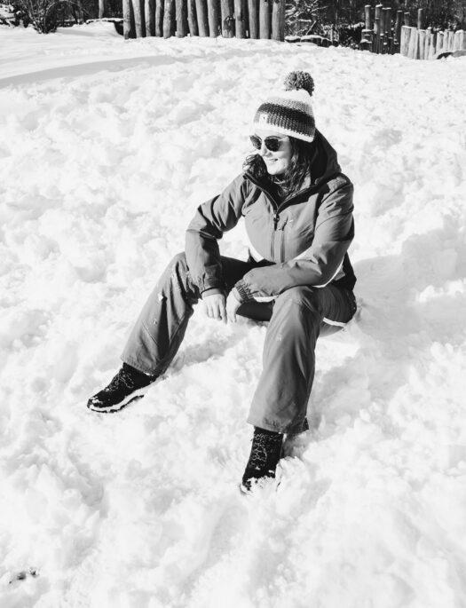 Protest en hun duurzame (winter) sportcollectie; een feestje in de sneeuw